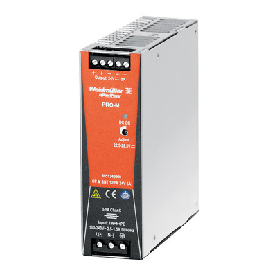 Bộ nguồn Weidmuller, Rail Switching Power Supply, CP M SNT 120W 24V 5A ,8951340000