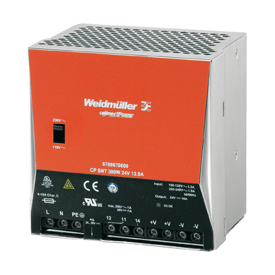 Bộ nguồn Weidmuller, Rail Switching Power Supply CP SNT 300W 24V 12.5A Genuine ,8974490000