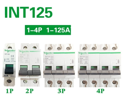 Aptomat, Schneider circuit breaker iINT125 40A 63A 80A 100A isolation switch 1P 2P 3P 4P