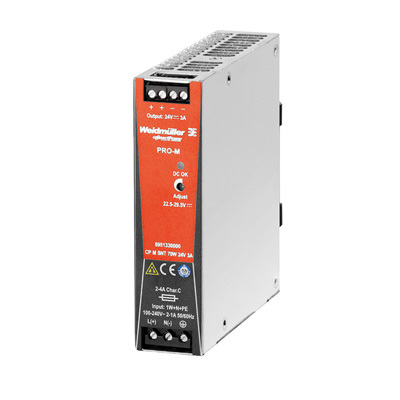 Bộ nguồn Weidmuller, Rail Switching Power Supply CP M SNT 70W 24V 3A  ,8951330000