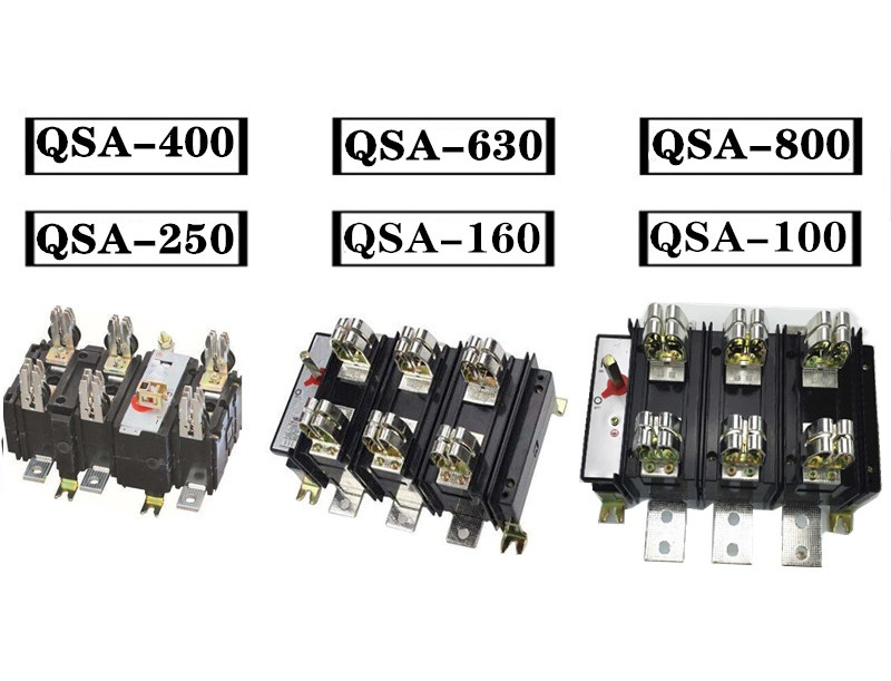 Dao cách ly, knife fuse switch QSA-63A/3, QSA-100A/3, QSA-125A/3, QSA-160A/3, QSA-250A/3, QSA-400A/3, QSA-630A/3, QSA-800A/3, QSA-1000A/3, QSA-1250A/3